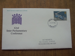 S063: FDC: 62nd INTER-PARLIAMENTARY CONFERENCE. 12p. FIRST DAY OF ISSUE -3 SEP 1975 MANCHESTER. - FDC