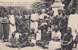 7 CPA CONGO FRANÇAIS Missions Des Pères Du St Esprit (féticheur Hopital Corvée Pont Indigène Missionnaire ..) - Congo Français - Autres