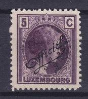 Luxembourg 1926 Mi. 138   5c. Grozzherzoginn Charlotte Mit Schrägem Aufdruck 'Officiel', MNG - Officials
