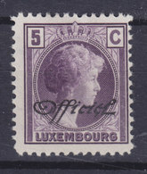 Luxembourg 1928 Mi. 154   5c. Grozzherzoginn Charlotte Mit Waagerechtem Aufdruck 'Officiel', MH* - Officials