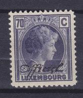 Luxembourg 1935 Mi. 177   70c. Grozzherzoginn Charlotte Mit Waagerechtem Aufdruck 'Officiel', MH* - Officials