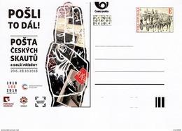 2018 Entier Postal Carte Neuf 100 Ans De La Poste Scout Tchécoslovaque / Czech Skauting Post - Entiers Postaux