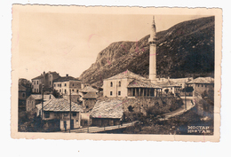 BOSNIA Mostar Ca 1930 OLD PHOTO POSTCARD 2 Scans - Bosnia And Herzegovina
