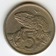 Nouvelle Zélande New Zealand 5 Cents 1969 KM 34.1 - Nouvelle-Zélande