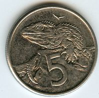 Nouvelle Zélande New Zealand 5 Cents 1996 KM 60 - Nouvelle-Zélande