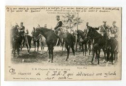 Ref 200 - REIMS - Fêtes Franco-russes De 1901 Grandes Manoeuvres De L'Est - Nicolas II Et Son Escorte (1902 - Verso) - Reims