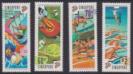 Singapore 841-844 1996 XXV Th Olympic Games Atlanta, Mint Never Hinged - Singapore (1959-...)