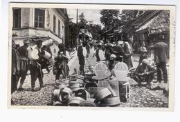 BOSNIA Sarajevo Na Trgu 1935 OLD PHOTO POSTCARD 2 Scans - Bosnia And Herzegovina