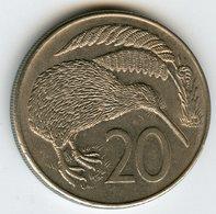 Nouvelle Zélande New Zealand 20 Cents 1982 KM 36.1 - Nouvelle-Zélande