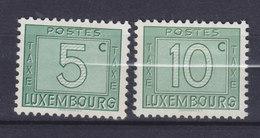Luxembourg Porto 1946/47 Mi. 23-24  Ziffernzeichnung, MH* - Postage Due