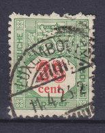 Luxembourg Porto 1922 Mi. 13A  25c. Ziffernzeichnung Perf. 12½ - Postage Due