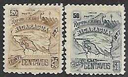 Nicaragua  1897  Sc#98E-F  20c & 50c MNG   2016 Scott Value $45    Wmk 117 - Nicaragua
