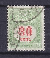Luxembourg Porto 1922 Mi. 14A  30c. Ziffernzeichnung Perf. 12½ - Postage Due