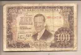 Spagna - Banconota Circolata Da 100 Pesetas P-145a - 1953 - [ 3] 1936-1975 : Regime Di Franco