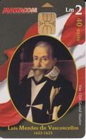 Nº128  TARJETA DE MALTA DE GRAND MASTER  LUIS MENDES DE VASCONCELLOS - Malta