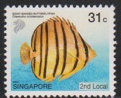 Singapore 1047 2004 Tropical Fish 31c Banded Butterflyfish, Mint Never Hinged - Singapore (1959-...)