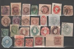 Gran Bretagna - Lotto Misto Di Ritagli Da Interi Postali - Francobolli