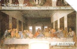 *ITALIA: LEONARDO DA VINCI - IL CENACOLO* - Scheda Usata (variante 1088a) - Italië