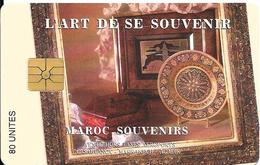 CARTE+PUCE-MAROC-AVE PHONE-80U-GEMA-ART DU SOUVENIRS-TBE - Morocco