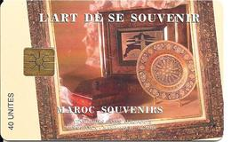 CARTE+PUCE-MAROC-AVE PHONE-40U-GEMB-ART DU SOUVENIRS-TBE - Morocco