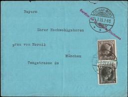 1927/1930  Lettre Cachet Comar-Berg 24.3.1933 Service De La Grande-Duchesse, Michel:187,224: RARE - Luxembourg