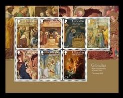Gibraltar 2018 Mih. 1884/90 (Bl.136) Christmas. Birth And Adoration Of Jesus Christ MNH ** - Gibraltar