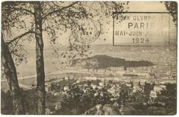 MARSEILLE 1924 Oblit. Flier : JEUX OLYMPIQUES PARIS...  En Arrivée - Marcofilie (Brieven)