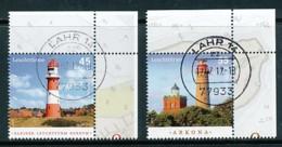 GERMANY Mi.Nr. 2942-2943 Leuchttürme - Eckrand Oben Rechts - Used - BRD