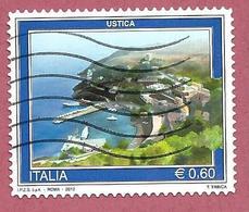 ITALIA REPUBBLICA USATO - 2012 - Turismo - Ustica - € 0,60 - S. 3334 - 6. 1946-.. Republic