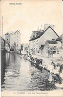 """56 PONTIVY  Rue Des Vieux Moulins 1900 """" Les Lavandières """" - Professions"""