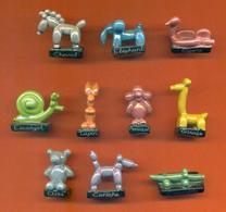 Serie Complète De 10 Feves Les Animaux Ballons - Animals
