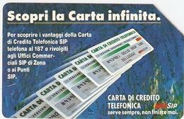 *ITALIA - SIP: CARTA INFINITA* - Scheda Usata (variante NON CATALOGATA) - Italië