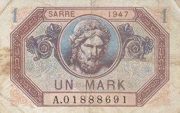 Billet 1 Mark SARRE 1947 FAY VF44.1 - 1947 Sarre