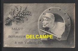 DD / GUERRE 1914 - 18 / SALUT ET BONHEUR A NOS VAILLANTS DÉFENSEURS - Guerre 1914-18