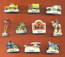 Serie Complète De 10 Feves Sur Le Paris Dakar 1999 - Sport