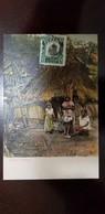 O) 1907 CIRCA-PANAMA, VASCO NUÑEZ DE BALBOA SCT 186 1c Green, NATIVE INDIANS POSTAL CARD XF - Panama