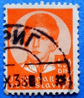 YUGOSLAVIA KINGDOM 0,50 Din. 1938 KING PETER II Mic.301 Y (THICK PAPER) - USED - 1931-1941 Kingdom Of Yugoslavia