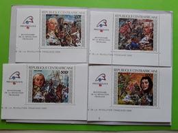 CENTRAFRICAINE 1989 Bicentenaire De La Révolution Française Yv 821 / 822,  PA 387 / 388 , Neufs ** TTB - Révolution Française