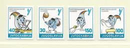 YOUGOSLAVIE  ( EU - 658 )   1986   N° YVERT ET TELLIER  N° 2069/2072    N** - 1945-1992 Socialist Federal Republic Of Yugoslavia