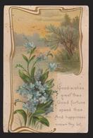 General Greetings - Flowers & Verse - Used 1909 - Embossed Toning Spots - Greetings From...
