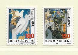 YOUGOSLAVIE  ( EU - 659 )   1986   N° YVERT ET TELLIER  N° 2073/2074    N** - 1945-1992 Socialist Federal Republic Of Yugoslavia