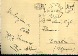 Pli TAXÉ Ayant Circulé Indûment En Franchise Militaire Du B.P.S. 7 Vers BOUILLON (26/10/1953) - Stamped Stationery