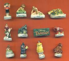 Serie Complète De 12 Feves Tarzan - Disney