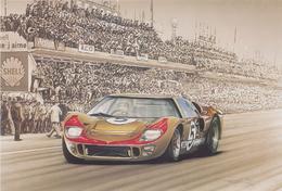 24 Heures Du MANS 1966 FORD GT 40 Dessin De F.BRUERE - Le Mans
