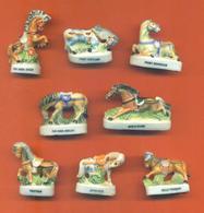 Serie Complète De 8 Feves Les Chevaux De Race - Animals
