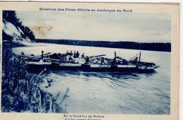 GREAT SLAVE LAKE, NWT, Canada, Missions Des Peres Oblats En Amerique Du Nord, Raft Of Boats , 1916? Postcard - Other