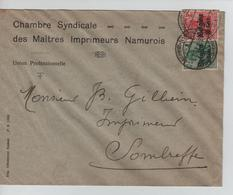 JS592/Guerre-Oorlog 14-18 TP Oc S/L.Entête Chambre Syndicale Maîtres Imprimeurs Namurois Càp Namur V.Sombreffe - Guerra 14 – 18