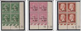 France Coin Daté Des N° 253 254 Et 255 , Timbres** Et 2 Charniéres* Propre RRR - ....-1929