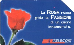 *ITALIA: MESSAGGI FLOREALI - ROSA* - Scheda Usata (variante NON CATALOGATA) - Italy