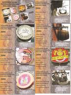 8 Pocket Calendars  BEER 2011  Lithuania - Calendars